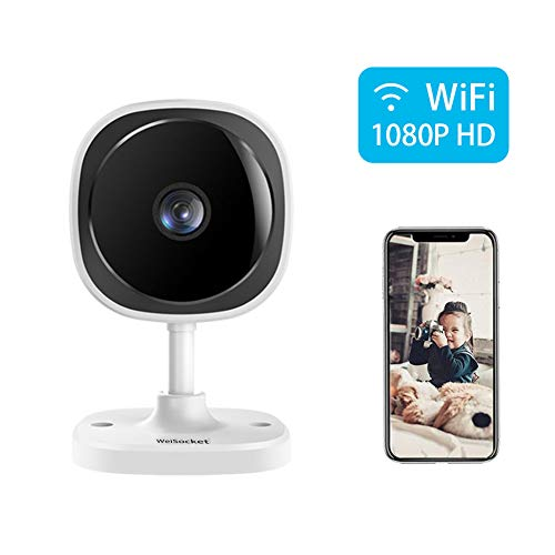 Price comparison product image WeiSocket Wireless Security Camera,  1080P Indoor IP Surveillance Camera with Night Vision & Activity Detection Alert & Two-Way Audio for Home,  Office,  Shop,  Baby,  Pet Monitor [White]