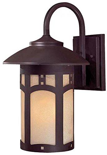 Large Wall Beacon Lantern Outdoor (Minka Lavery Outdoor Wall Light 8722-A615B Beacon Rhodes Exterior Wall Lantern, 100 Watts, Bronze)