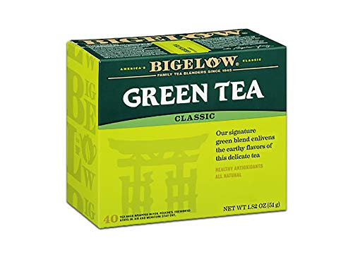 (Bigelow Classic Green Tea Bags 40-Count Boxes (Pack of 6), 240 Tea Bags Total Caffeinated Individual Green Tea Bags, for Hot Tea or Iced Tea, Drink Plain or Sweetened with Honey or Sugar)