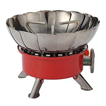 Generic 1pc al aire libre resistente al viento Estufa de Camping Gas herramientas/quemadores con electrónica Lgnition cortavientos parrillas, otros, rosso, ...