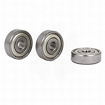 22mmx6mmx7mm Metal Sealed Deep Groove Single Row Ball Bearings 636Z 3pcs