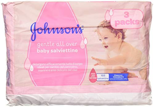 Johnson's Baby Skincare Wipes, Gentle Cleansing,56 Count (Pack of 3)