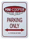 mini cooper parking sign - Austin Mini cooper parking only - metal sign