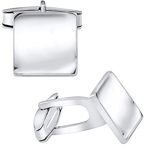 Italian White Cufflinks - 1