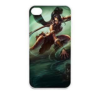 Nidalee-001 League of Legends LoL case cover for Apple iPhone 4 / 4S - Rubber White