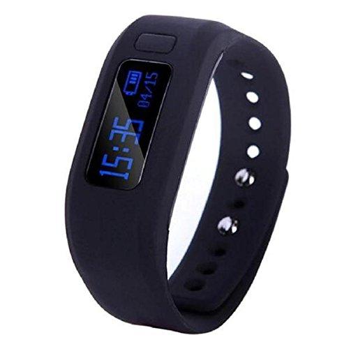 centechia Fitness Tracker Tracker Bluetooth Fitness sport-watch ブラック B079MFJ3CV B079MFJ3CV, シューマートワールド:4b7add8e --- arvoreazul.com.br