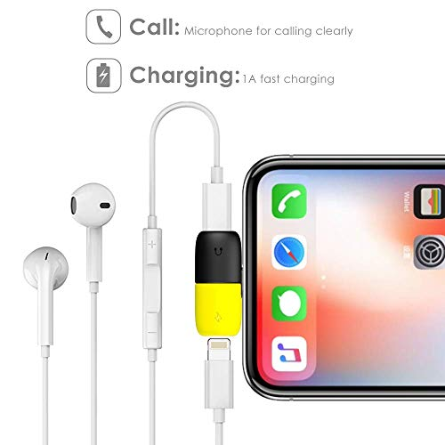 Amazon.com: Holo Splitter Compatible with iPhone 7, 7 Plus, 8, 8 Plus, X, Xr, Xs, iPad,iPad Pro, 2 in 1 Dual Headphone Jack Audio + Charge Cable Adapter,Work with iOS 12 or Later, Sync,Music Control.: Cell Phones & Accessories