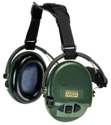 MSA Sordin Supreme Pro X with green cups - Neckband - Electronic Earmuff equipped with comfortable ear-seals, slim-design