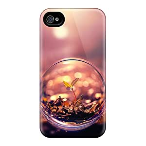 Hot Snap-on Beautiful Macro Photography Plant Water Bubble Hard Cover Case/ Protective Case For Iphone 4/4s