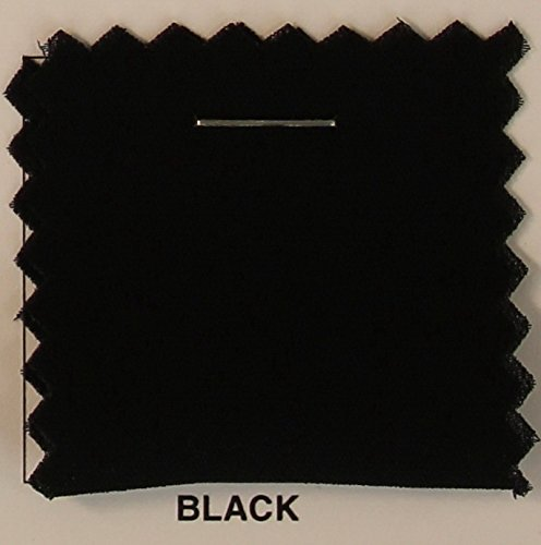 2 Yards Bolt of-Double Georgette Fabric / Chiffon Dobby Fabric - BLACK