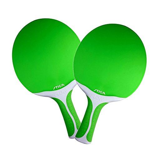 Set of 2 Stiga Flow Ping Pong Paddle - Green by STIGA