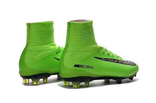 Herren Mercurial superfly V FG grün High Top Fußball Schuhe Fußball Stiefel