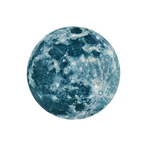 Mlide Fluorescent Wall Sticker, 3D Moon Removable Glow in The Dark Sticker,Two -