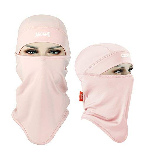 Balaclava Aegend Windproof Ski Face Mask Winter Motorcycle Neck Warmer Tactical Balaclava Hood Polyester Fleece for Women Men Youth Snowboard Cycling Hat Outdoors Helmet Liner Mask-Pink, 1 Piece