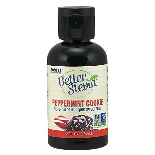 (NOW Foods, Better Stevia, Liquid, Peppermint Cookie, Zero-Calorie Liquid Sweetener, Low Glycemic Impact, Certified Non-GMO, 2-Ounce)