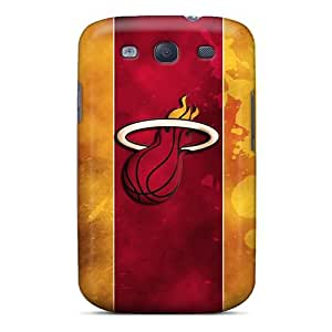 New Arrival Premium S3 Cases Covers For Galaxy (miami Heat Logo)