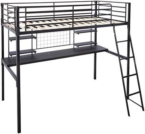 - Coaster 460473T-CO Twin Loft Bunk Bed, Black
