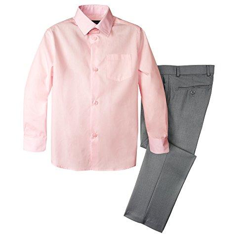 - Spring Notion Boys' Dress Pants and Shirt 5 Grey/Pink