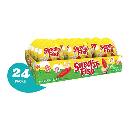 (SWEDISH FISH Soft & Chewy Candy Easter Eggs Pack of 24)