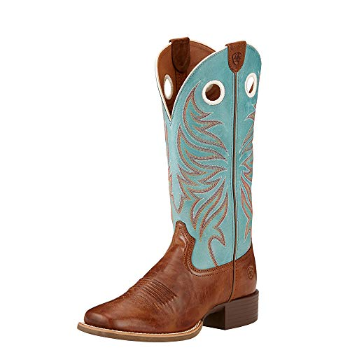 ARIAT Women's Round Up Ryder Cowgirl Boot Square Toe Wood 7 M US ()