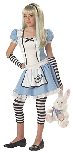 California Costumes Girls Tween Alice Costume, Blue/White, (Girls Alice In Wonderland Fancy Dress)