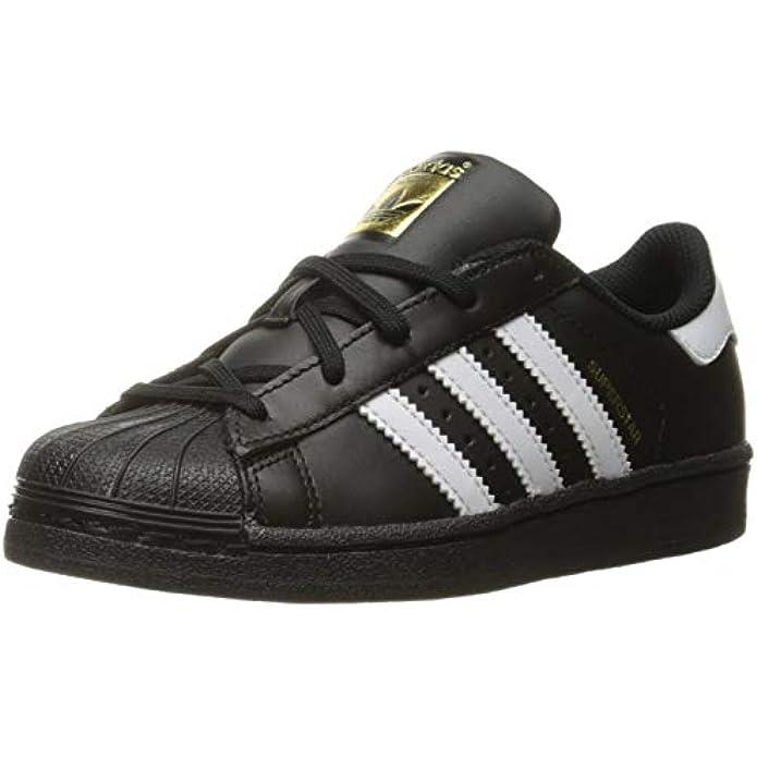 adidas Originals Kid's Unisex Superstar Black/White/Black 3