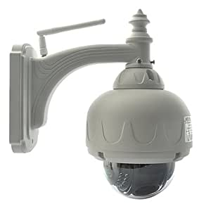 IPCC 3X Optical Zoom, Outdoor/Indoor Wifi Dome IP Camera, with NightVision, IR Cut Filter - color White