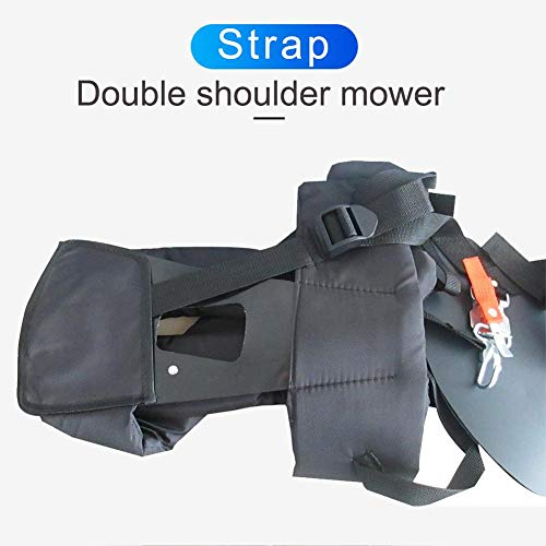 Weed Eater Strap Double Shoulder Trimmer Shoulder Strap With Hick Sponges Trimmer Harness Strap Adjustable Shoulder Strap Double Shoulder Mower Nylon Belt Reduce Shoulder And Body Fatigue TrimmerStrap
