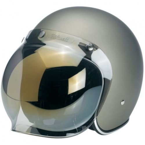 rauchfarben get/önte Scheibe Motorradhelm-Visier f/ür Harley u./a. Biltwell Bubble-Visier f/ür Jethelm