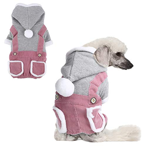 voopet Pet Clothes, Soft Warm Puppy Coat – Fleece Lining Dog Winter Clothes Cold Weather Dog Vest Costume for Small Dogs…
