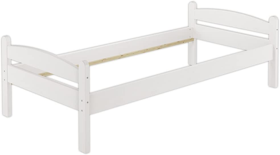 /Legno Massiccio Bianco /80/x 200/ Erst-Holz Solo per Legno 60.32/ /08/W Letto Singolo con Roll ruggine/