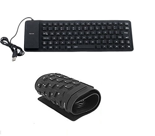 Outre Lightweight Ultra Slim Portable Flexible Foldable Silent Silicon USB Keyboard