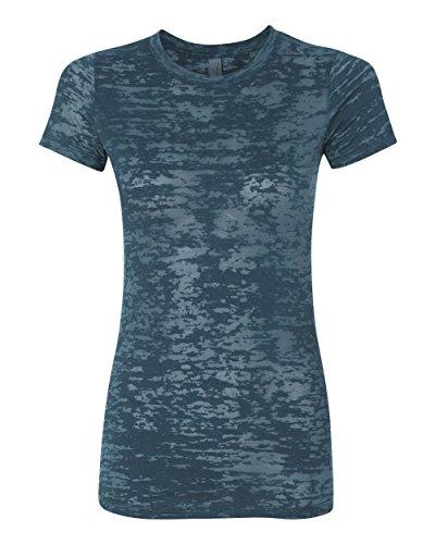 Next Level Baby Rib-Knit Crewneck Burnout Jersey T-Shirt, S, INDIGO
