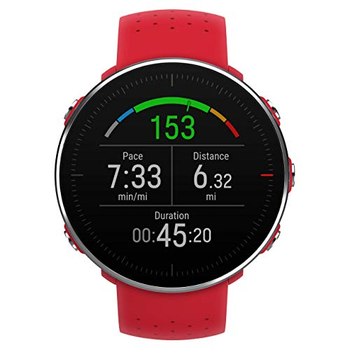 (POLAR VANTAGE M -Advanced Running & Multisport Watch with GPS and Wrist-based Heart Rate (Lightweight Design & Latest Technology, Red, M-L)