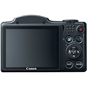 Canon PowerShot SX500 IS 16.0 MP Digital Camera with 30x Wide-Angle Optical Image Stabilized Zoom and 3.0-Inch LCD (Black) (OLD MODEL) by Canon