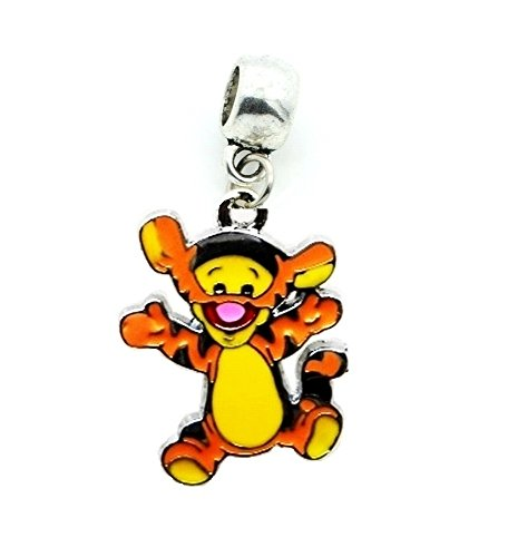 TIGGER TIGER WINNIE THE POOH FRIEND CHARM SLIDER PENDANT ADD TO YOUR NECKLACE, EUROPEAN BRACELET, DIY, ETC.