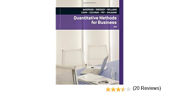 Quantitative Methods for Business (with Printed Access Card ...