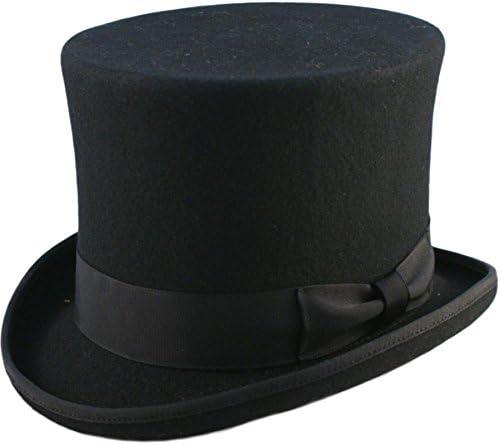 AB Hüte, 15,2 cm hoch, handgefertigt, 100 % Wolle, mit Satin gefüttert, Größe S bis XXL