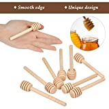 50 Pack 3 Inch and 4 Inch Wooden Honey Dipper