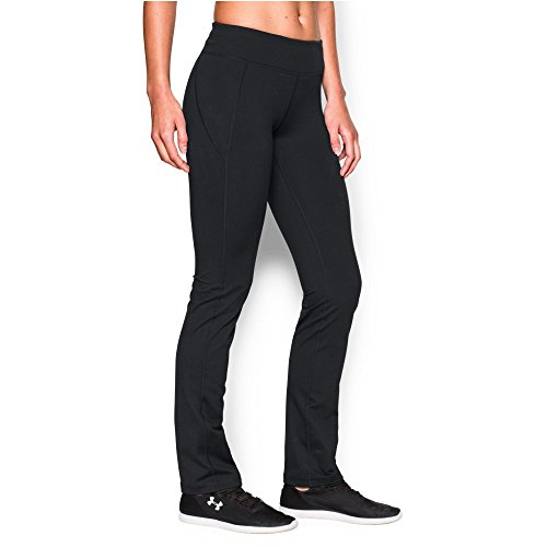 Under Armour Women's Mirror Straight Leg Pant, Black (001)/Silver, ()