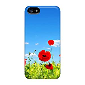 Fashionable RzA26638ezyy Iphone 5/5s Cases Covers For Field Of Poppies Protective Cases