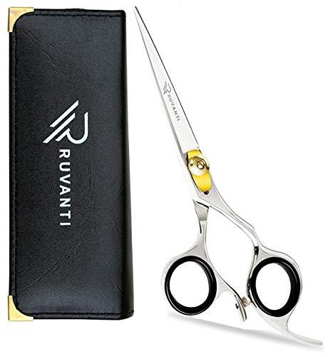 Ruvanti Professional Razor Blades Hair Scissors - Barber Hair Cutting Scissor - 6.5