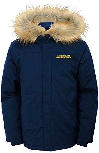 Youth Heavyweight Parka Jacket - NCAA by Outerstuff NCAA Michigan Wolverines Youth Boys