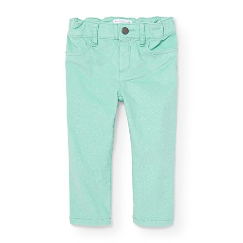 Childrens Place Corduroy - The Children's Place Baby Girls' Little Solid Velvet Jegging, Mint Tint 88396, 4T