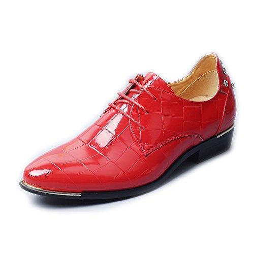 Xiaojuan Rosso da Rosso Classiche shoes uomo da Color lavoro Dimensione in classiche quadrato liscia fodere Pelle EU in Scarpe uomo Scarpe tessuto pelle da Uomo Stringate foderate 38 ppgqnxOr0w