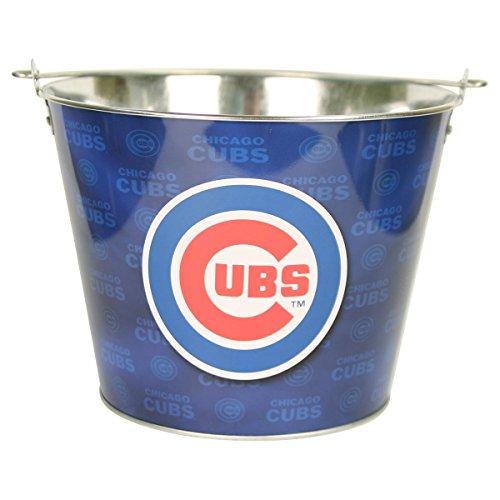 Chicago Cubs Team Color Metal Beer Bucket (Bucket Of Beer Gift)