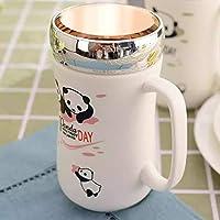 Satyam Kraft (Pack of 1) Panda Ceramic Coffee Mug with Lid with for Diwali Gift,Christmas Gift, Coffee Mug Ceramic Mug Valentine Gift Mug (1 Pcs Random Design)