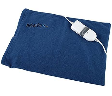 Almohadilla electrica de calor X2 unidades espalda lumbares 3 temperaturas 60W: Amazon.es: Salud y cuidado personal
