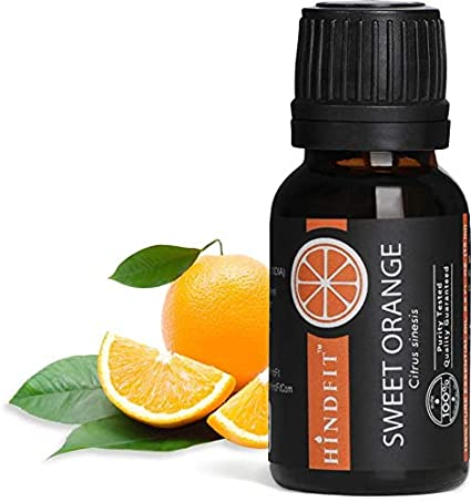 Hindfit 100% pure Orange Essential Oil, Therapeutic Grade Sweet Orange Oil(15 ml)