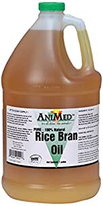 AniMed Rice Bran Oil Pure Feed Supplement, 2.5-Gallon